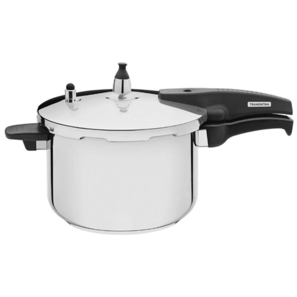 Panela Pressão Tramontina para Cozinhas Modernas Aço Inox 6L