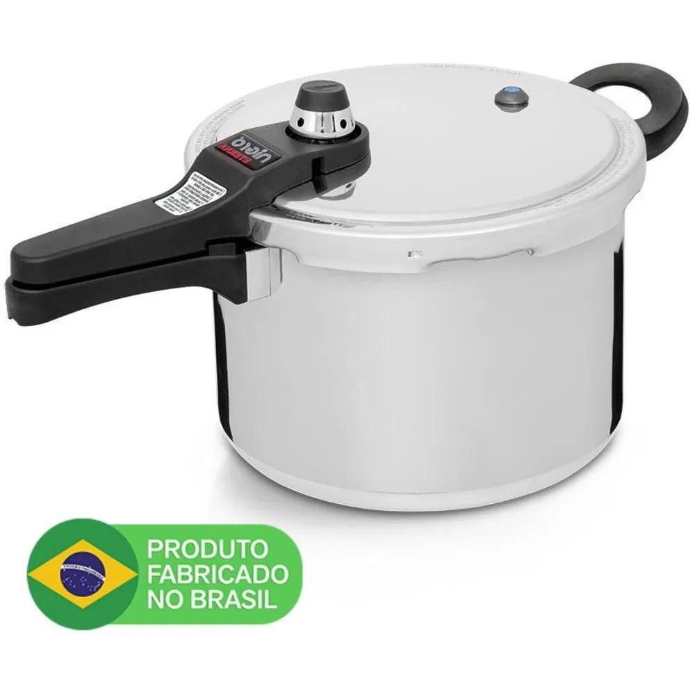 Panela de Pressão Brasileira com 6 Sistemas de Segurança 6L