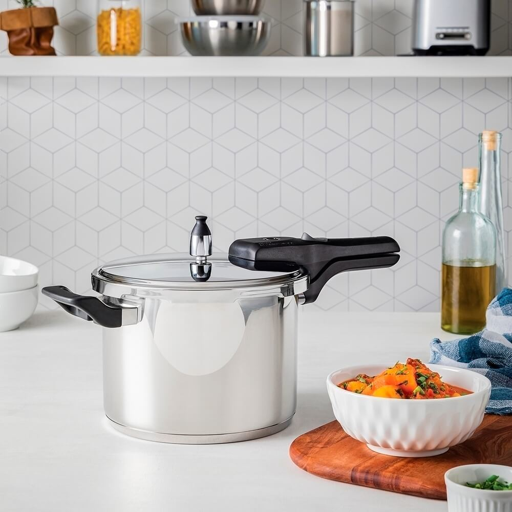 Panela de Pressão para Cozinhas Modernas Inox 4,5 Litros