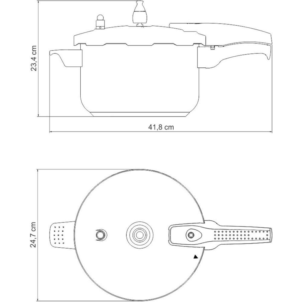 Panela de Pressão para Fogão de Indução Inox Tramontina 6L