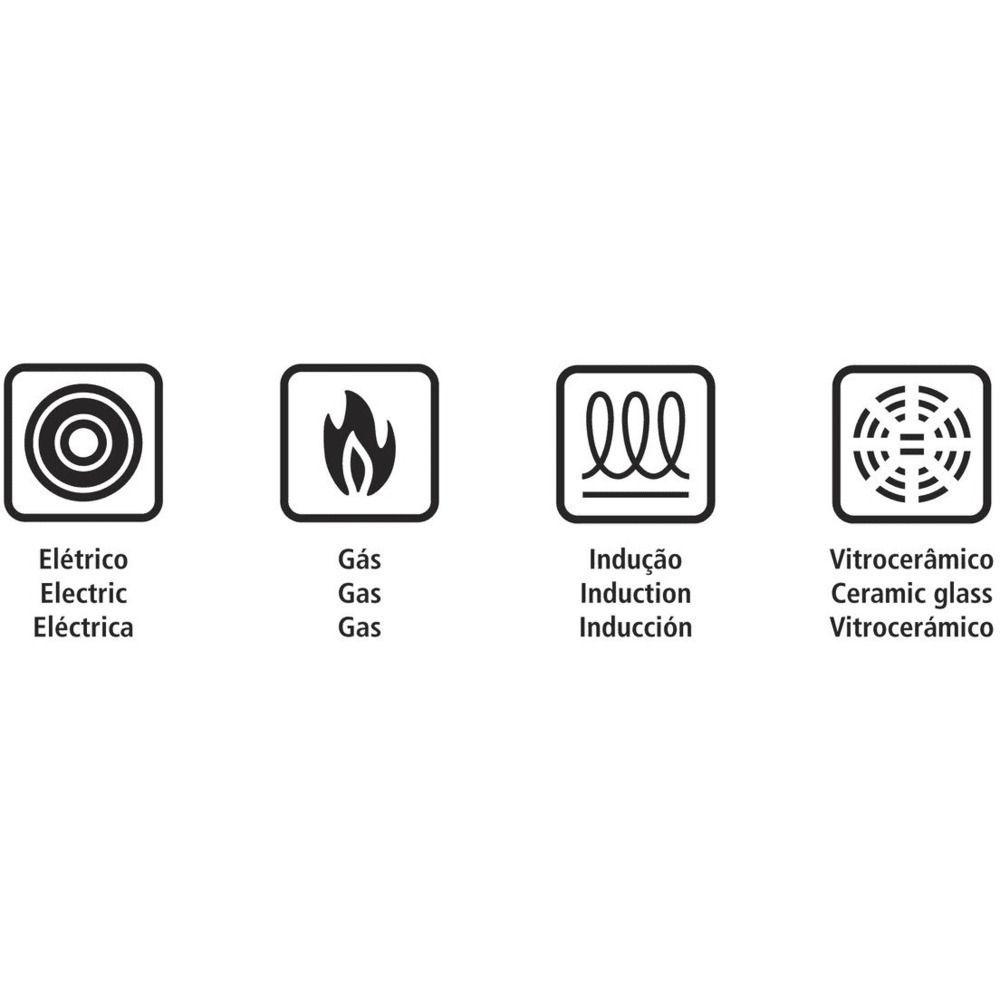 Panela de Pressão Tramontina Inox para Fogão de Indução 4,5L