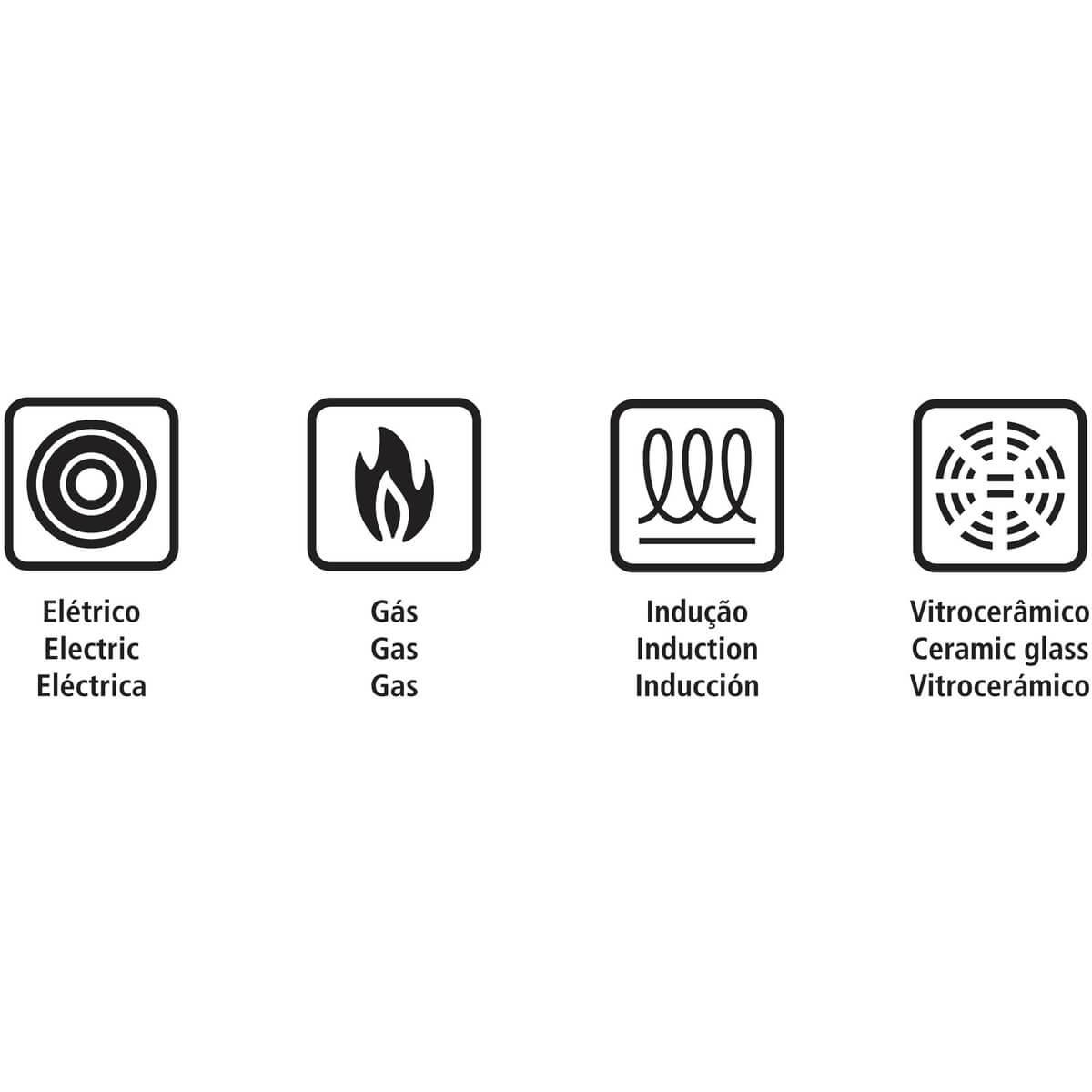 Panela de Pressão Tramontina Solar 3 Litros Indução Aço Inox