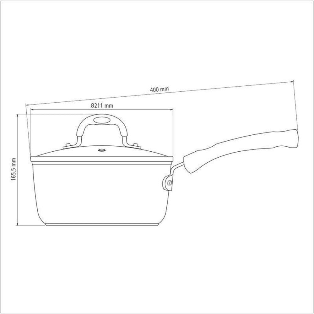 Panela Tramontina para Fogão de Indução Antiaderente 20cm