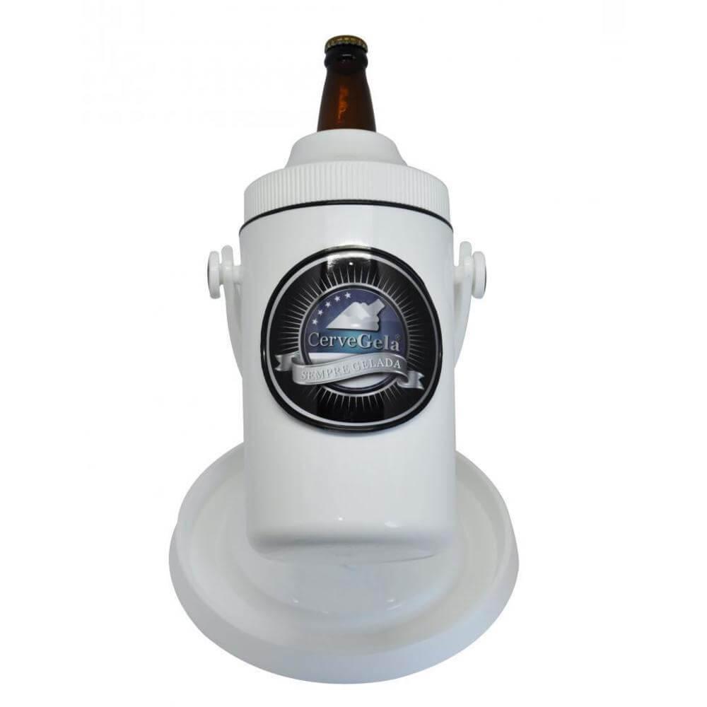 Porta Cerveja com Suporte Rotativo  Branco Cervegela