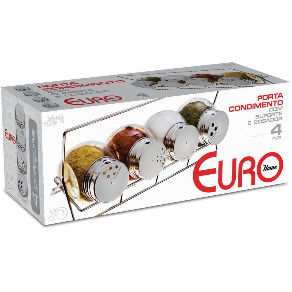 Porta Condimentos Bubble 4 Peças Euro