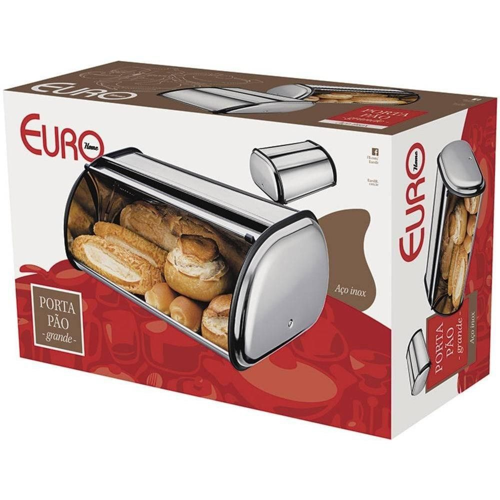 Porta Pão Inox Grande Euro