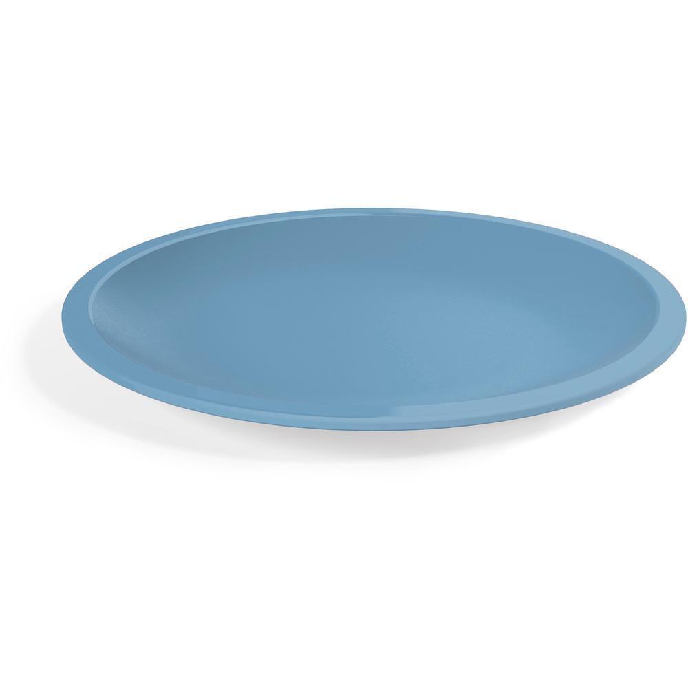 Prato Redondo G em Polipropileno Azul UZ