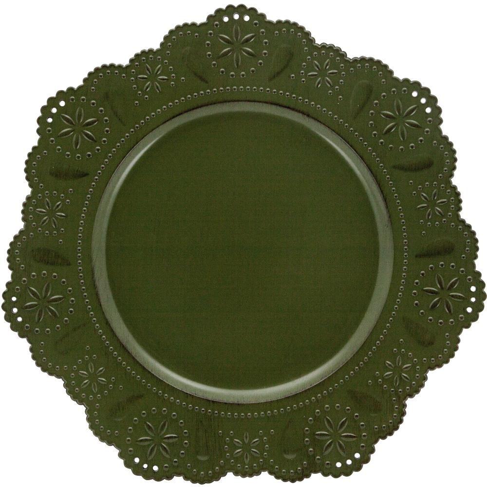 Sousplat Renda Verde 33cm Mimo Style