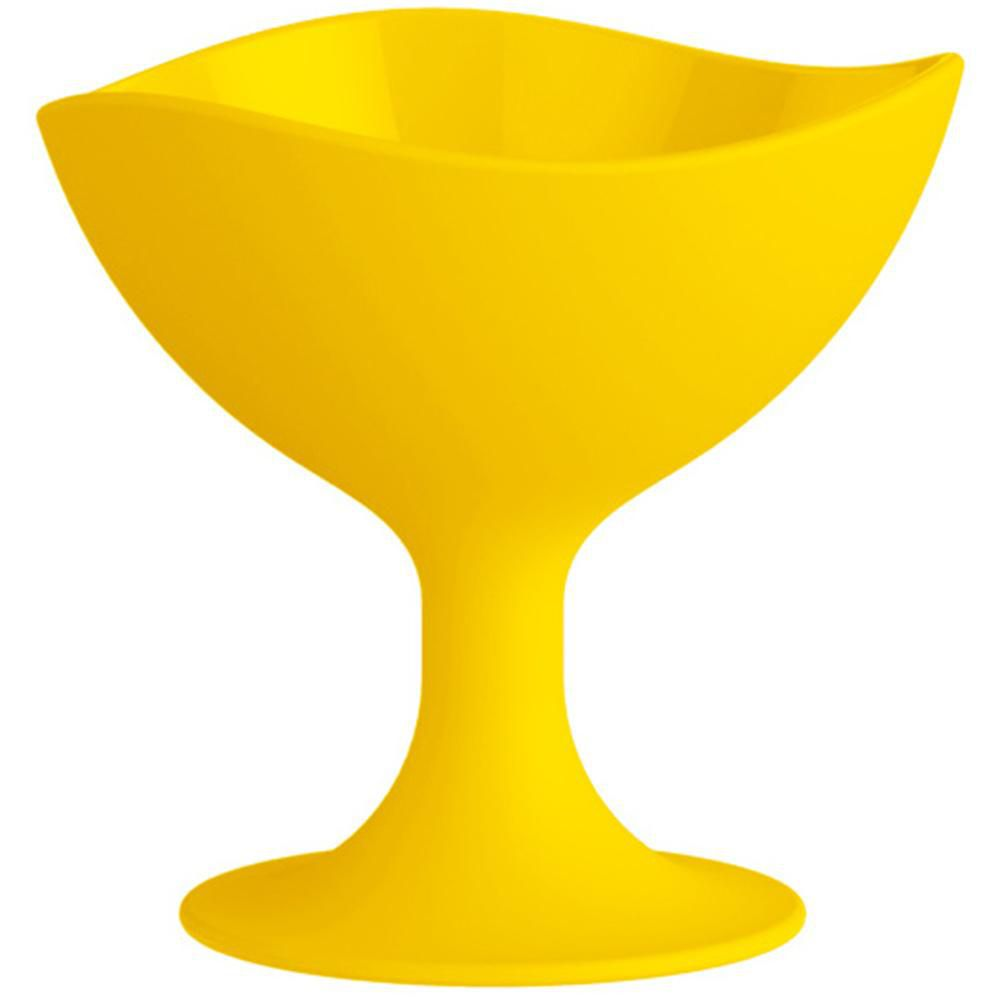 Taça Sorvete 300ml em Polipropileno Amarela UZ