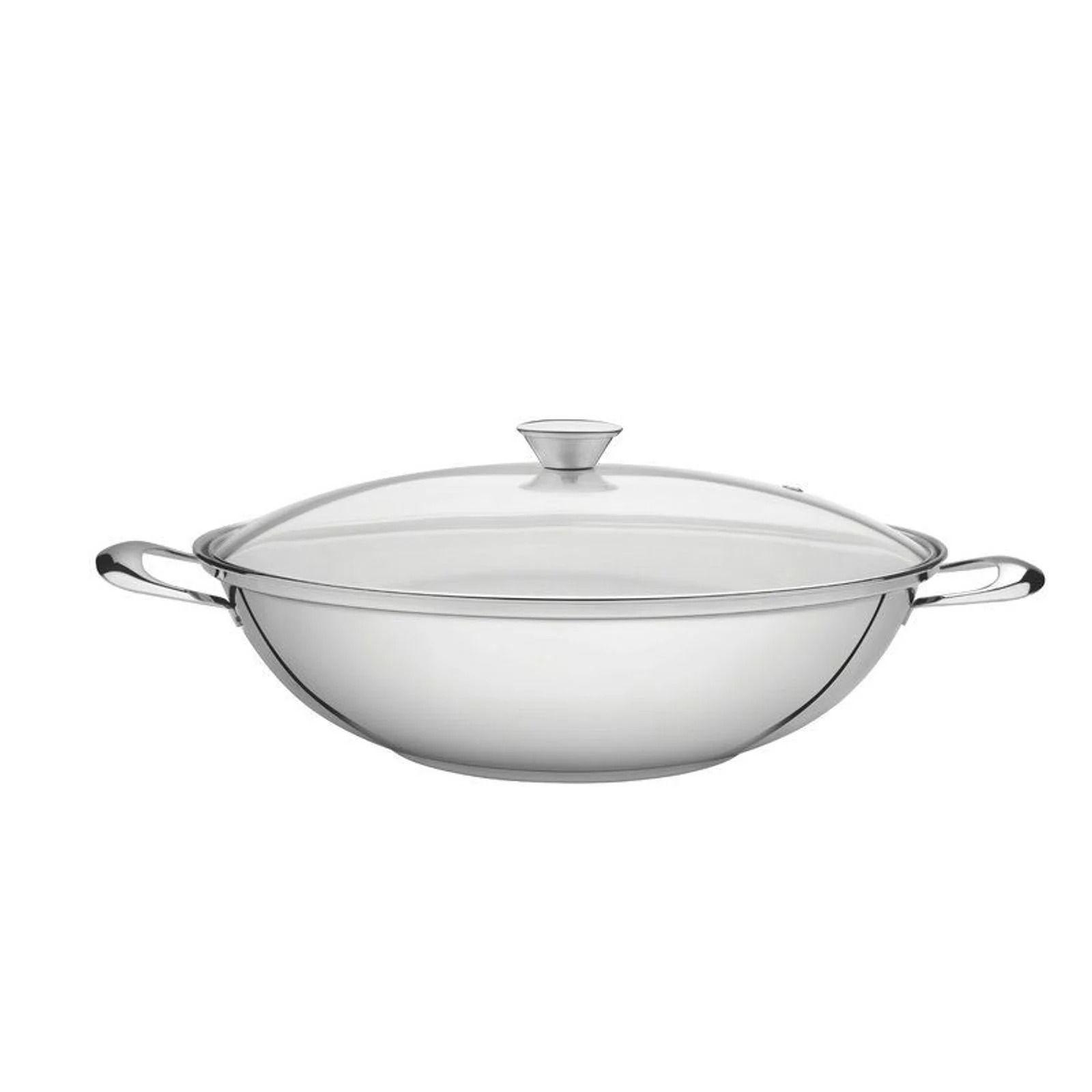 Wok para Cozinhas Modernas Tramontina Aço Inox 34cm