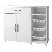 Balcão de Cozinha com Fruteira 2 Portas 1 Gaveta Salinas Arte Móveis Branco