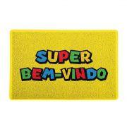 Capacho Super Mario Bem Vindo 60x40 cm
