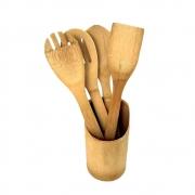 Jogo de Utensílios com 5 Peças Bambu Ecokitchen