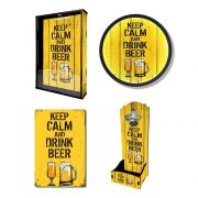 Kit Barzinho em Casa - Keep Calm and Drink Beer