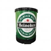 Lixeira com Pedal Redonda Heineken 30 Litros