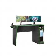 Mesa Gamer Cyber Grafite e Verde
