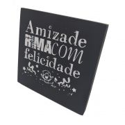 Mini Quadro Decorativo Amizade 12x12 cm