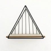 Nicho Prateleira Triangular Metal Aramado Preto