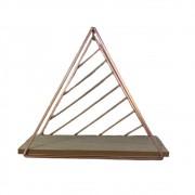 Nicho Prateleira Triangular Metal Aramado Rose Gold