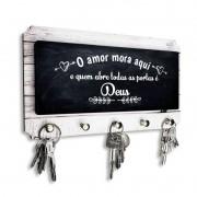 Porta Chaves O Amor Mora Aqui e Quem Abre as Portas é DEUS