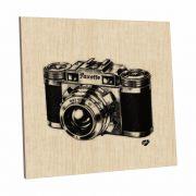 Quadro Decorativo 20x20 cm Câmera