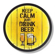 Quadro Decorativo com Luz LED Keep Calm and Drink Beer