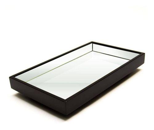 Bandeja Espelhada Laqueada Flutuante 50x30 cm