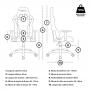 Cadeira Gamer MoobX Thunder Reclinável Com Braço Regulável