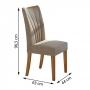 Conjunto Sala de Jantar Apogeu com 6 Cadeiras Móveis Lopas