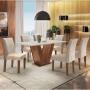 Conjunto Sala de Jantar Classic com 6 Cadeiras Cel Móveis Chocolate