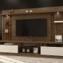 Home Estante Tv até 58 Polegadas Amsterdã Mavaular Canion Soft/Off White