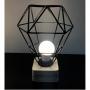 Luminária Diamante Metal Preto