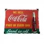 Placa Decorativa em Metal Coca-Cola