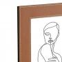 Porta Retrato com Revestimento em Couro Sintético 21x26 cm