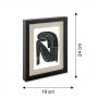 Porta Retrato em MDF Preto com Linho 19x24 cm