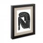 Porta Retrato em MDF Preto com Linho 24x29 cm