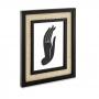 Porta Retrato em MDF Preto com Rattan Palha 20x25 cm