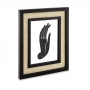 Porta Retrato em MDF Preto com Rattan Palha 25x30 cm
