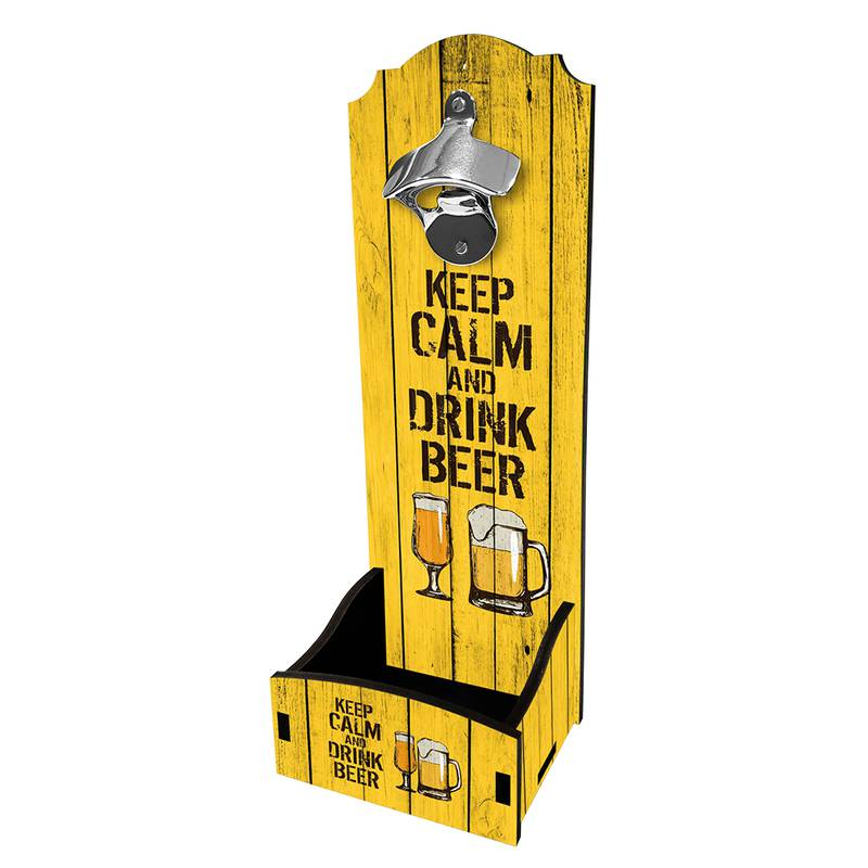 Abridor de Garrafa de Parede Keep Calm and Drink Beer