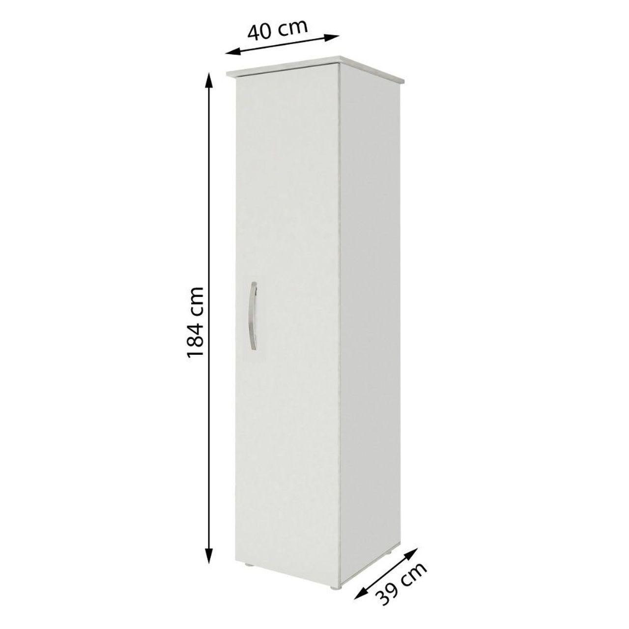 Armário Multiuso 1 Porta Jasmim Kaiki Móveis Branco
