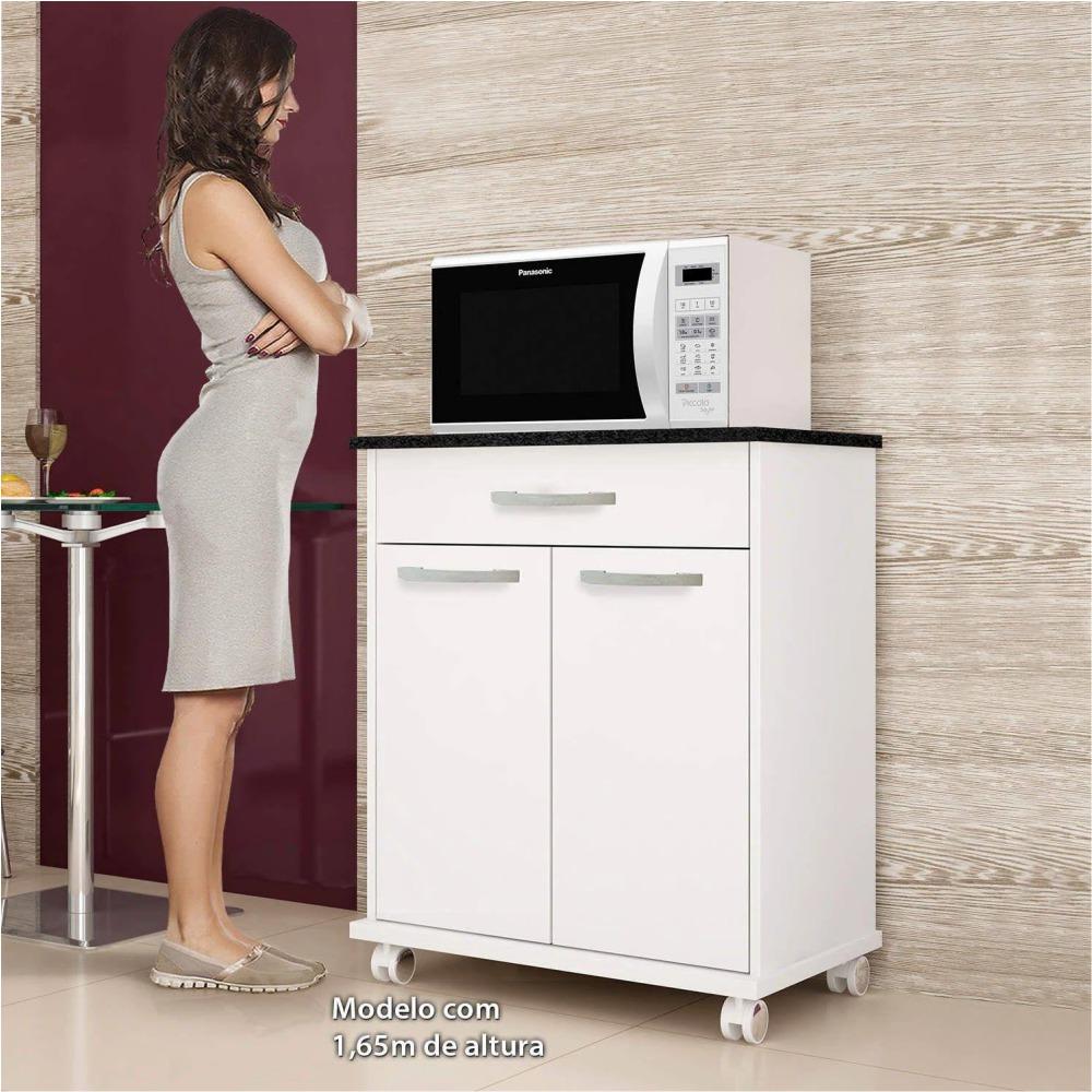 Balcão de Cozinha 2 Portas 1 Gaveta Girassol Kaiki Móveis Branco
