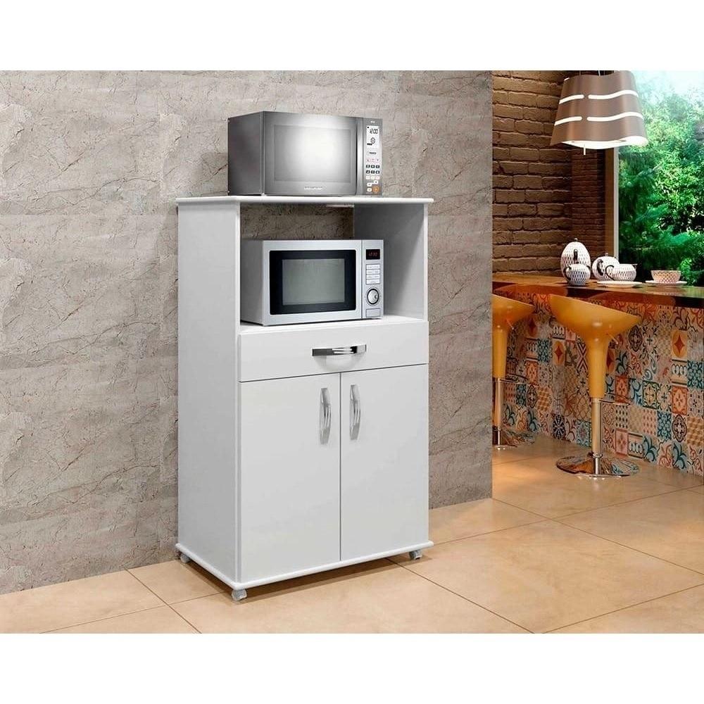 Balcão de Cozinha 2 Portas 1 Gaveta Conquista Arte Móveis Branco