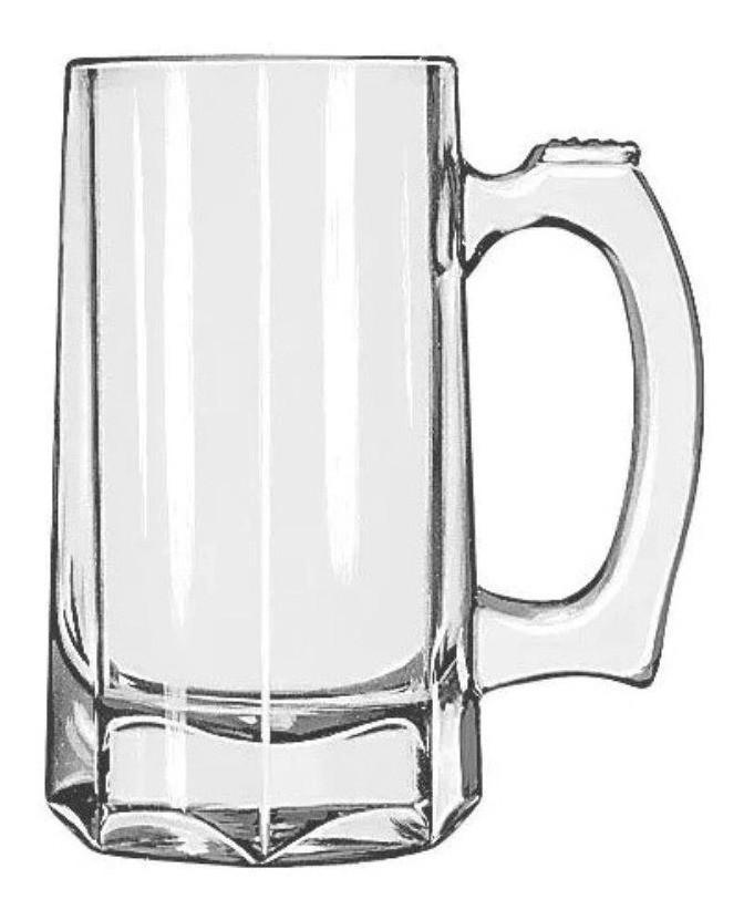 Caneca Chopp Cerveja Vidro Zero Grau Haüskraft 370 ml