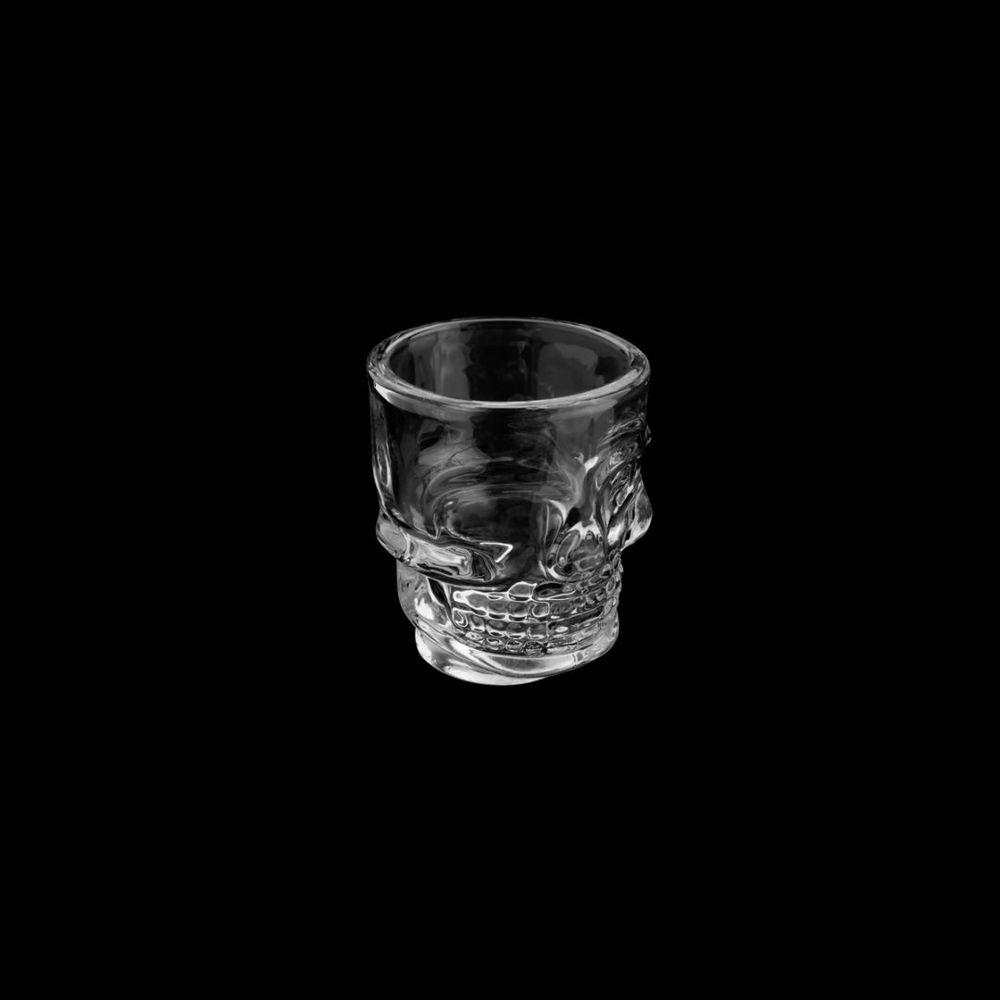 Conjunto 6 Copos SHOT Vidro Caveira 50 ml