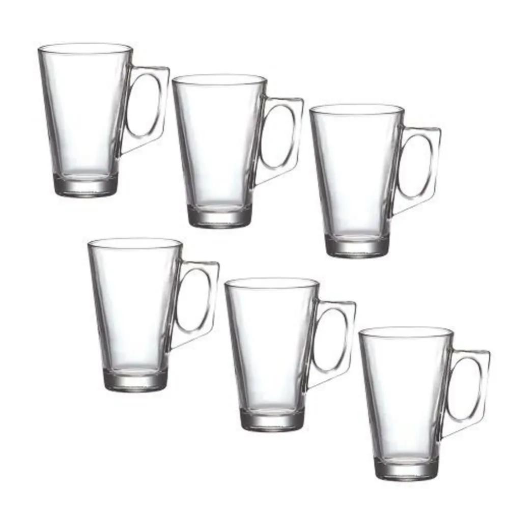 Conjunto 6 Copos Vidro com Alça 150 ml