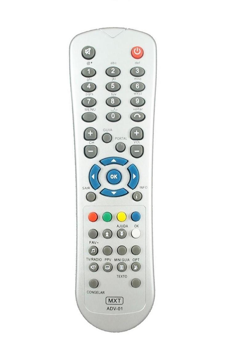 Controle Remoto para Receptor Telefônica e TV Digital