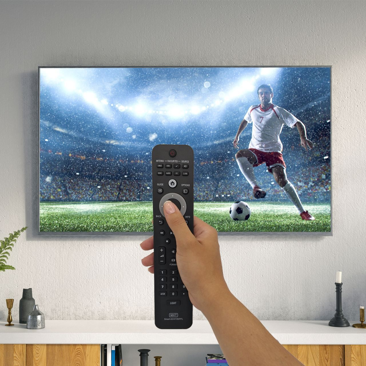 Controle Remoto para TV Philips SMART LCD LED