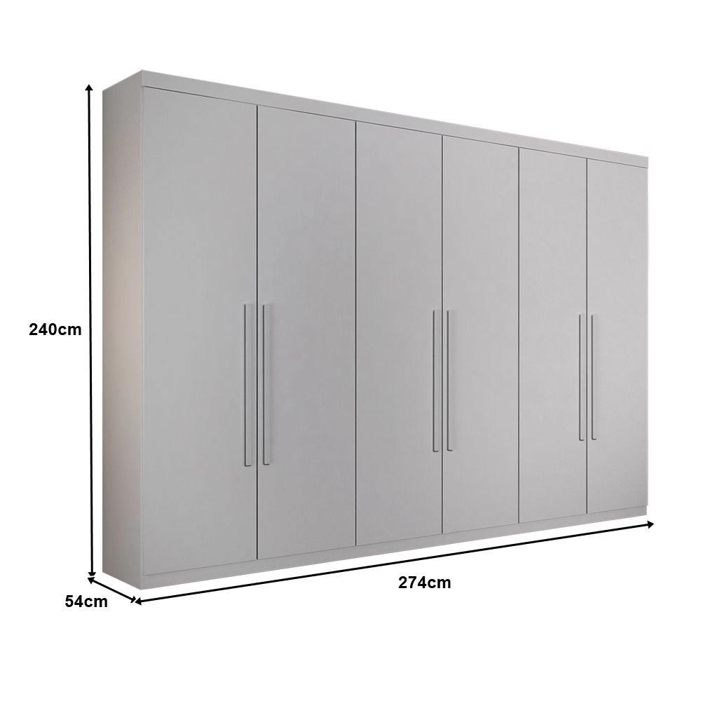 Guarda-Roupa Casal Sonata Plus 6 Portas Sallêto Branco