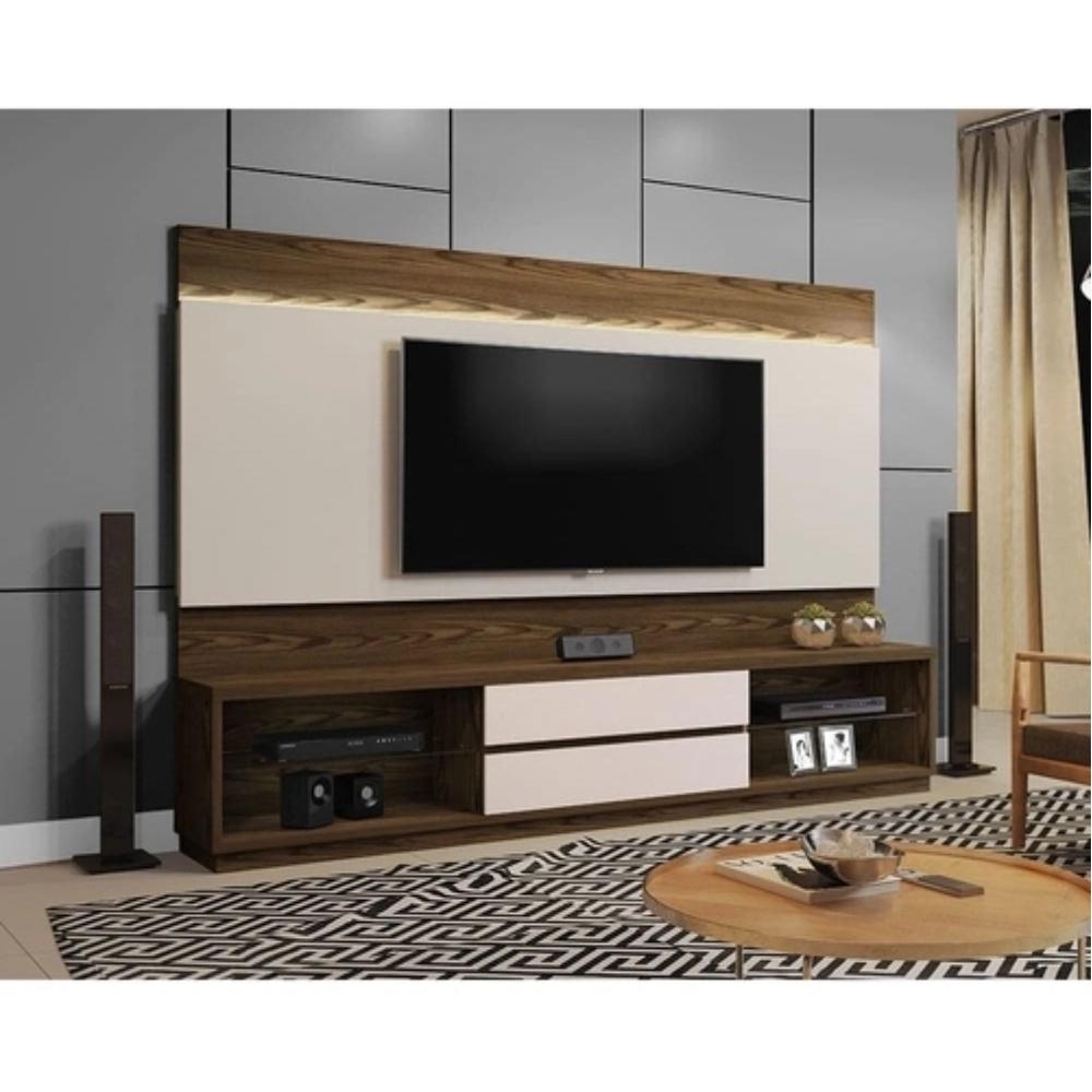 Home Estante TV até 65 Polegadas Istambul Mavaular sem Espelho Canion Soft/Off White