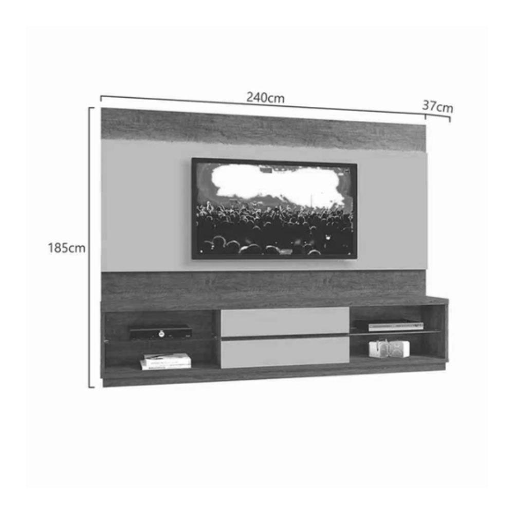 Home Estante TV até 65 Polegadas Istambul Mavaular sem Espelho Damasco Soft/Off White